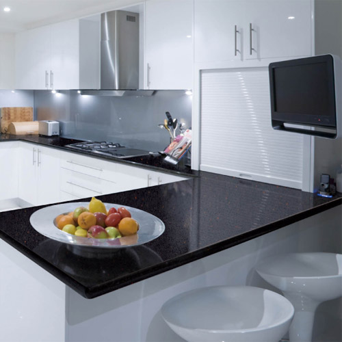Grey Kitchen Marble Worktop: Quartz Worktops Concreto Gloss Grey